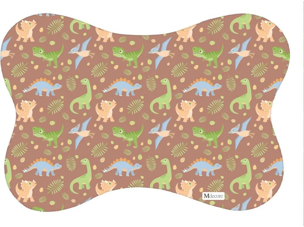 Tapete PET Mdecore Osso Dinossauro Marrom54x39cm