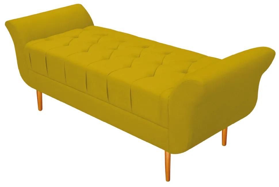Recamier Estofado Ari 195 cm King Size Corano Amarelo - ADJ Decor