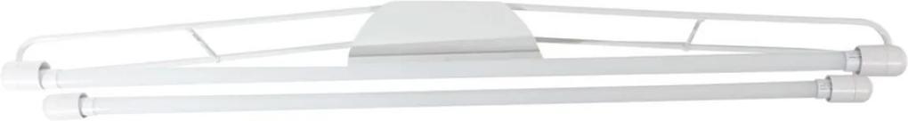 Plafon Led Sobrepor Duplo Acrilico Luz Branca 6500k 120cm
