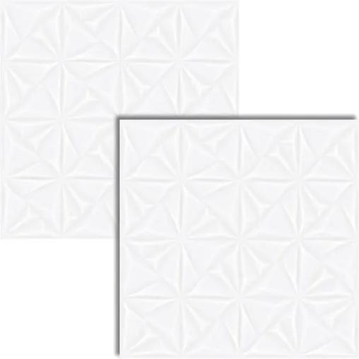Porcelanato Classic White Deco Acetinado Retificado 72x72cm - AR72056 - Viarosa - Viarosa