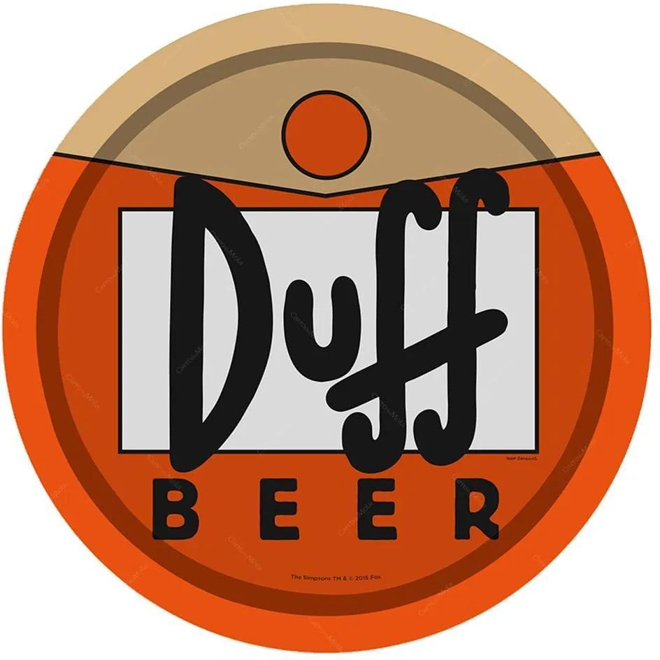 Bandeja Duff Beer - The Simpsons - Laranja em Metal - 30x2,5 cm
