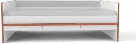Sofa Cama Malu com 3 gavetas Branco Fosco e Pinus ou Jequitibá