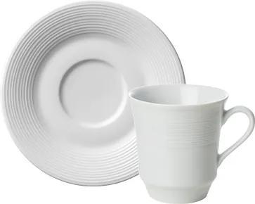 Xicara Chá c/ Pires Porcelana Schmidt - Mod. Saturno