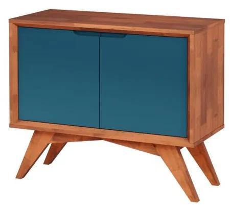 Buffet Uriel 2 Portas Natural e Azul - Wood Prime MP 27557