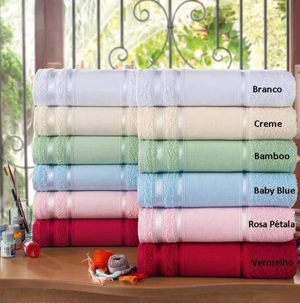 Toalha de Rosto para Bordar Ponto Russo e Pintar Louise - 45x70cm - Lufamar