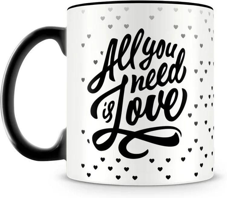 Caneca Personalizada All You Need is Love (Preta)
