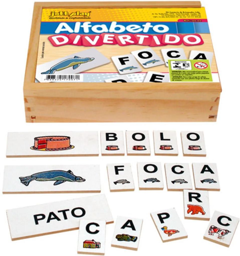 Jogo Educativo Alfabeto Divertido Com 60 Peças - JOTTPLAY
