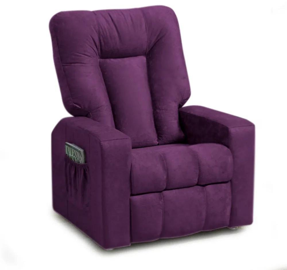Poltrona do Papai Pallas Mx5 Reclinável Suede Roxo - Matrix - Púrpura
