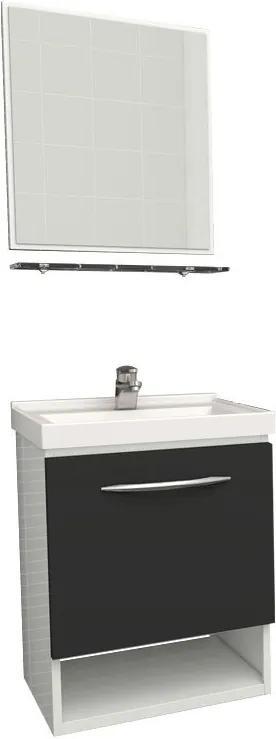 Conjunto Para Banheiro Aço Pitanga Mais 40 Cozimax Branco/preto
