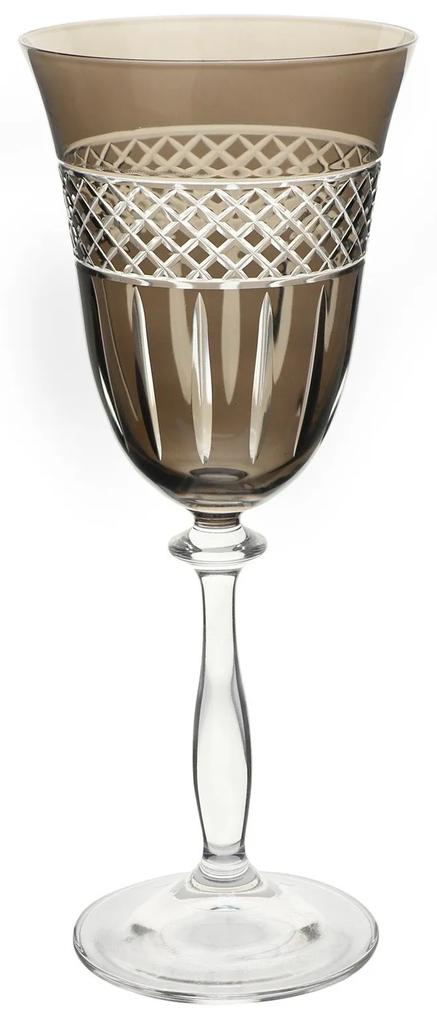 Taça de Cristal Ecológico P/ Vinho Tinto Angela - Fumê