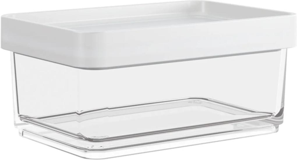 Pote Coza Clear Mini Branco/Transparente