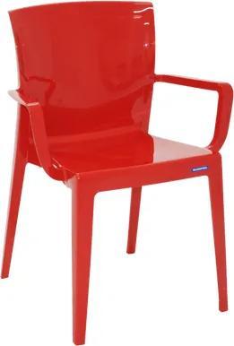 Cadeira Victória com braços vermelha Tramontina 92044040