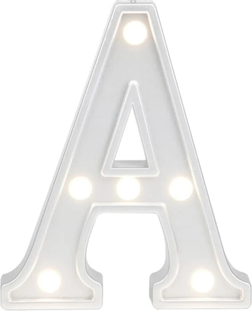 Mini Luminária Adoraria Letra Led A Luminosa Branco