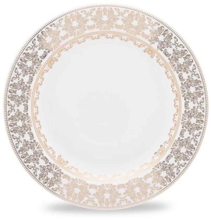 Jogo C/ 6 Pratos Rasos 28cm - Porcelana  Porcelana