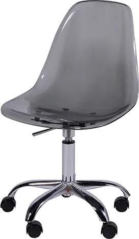 Cadeira DKR Policarbonato com Rodízio
