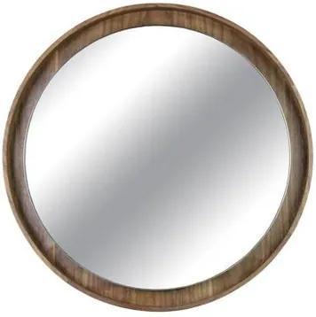 Espelho Martis Moldura Revestido em Lamina Nogueira 45 cm (LARG) - 43560 Sun House