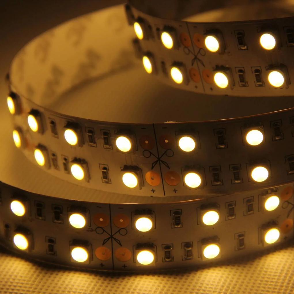 fita de led 28,8w/m quente 24v 5m c/ silicone Bella LP074