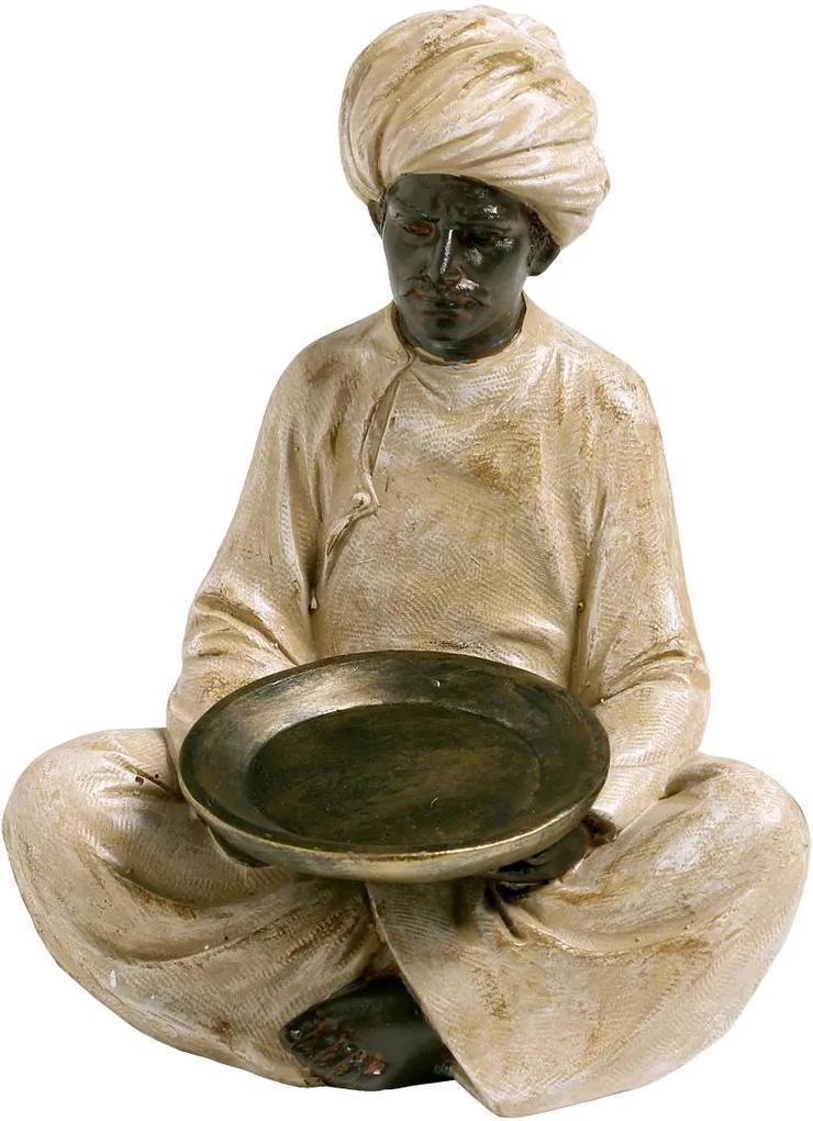Estatueta Servo Indiano Pernas Cruzadas