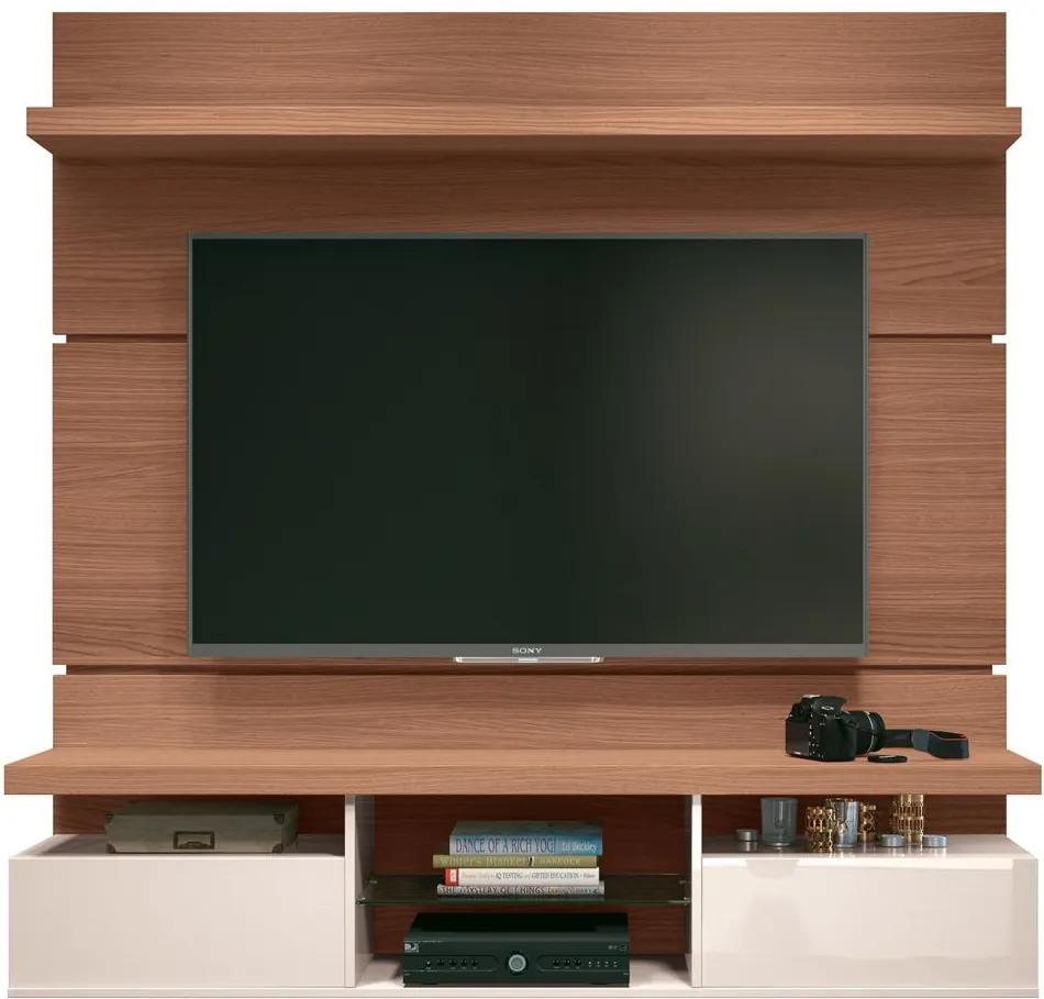 """Painel Home Suspenso 1.6 para TV até 55"""" Sala de Estar Lennon Nature/off white - Gran Belo"""
