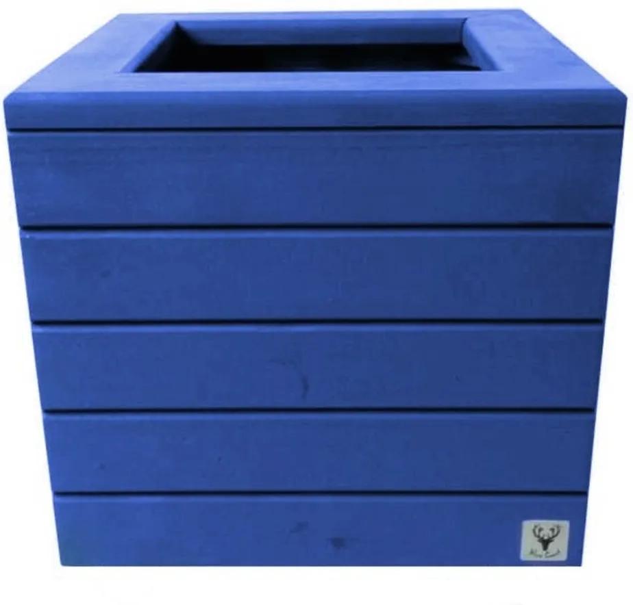 Vaso Madeira Cachepot ALCE COUCH Azul 38X40X40