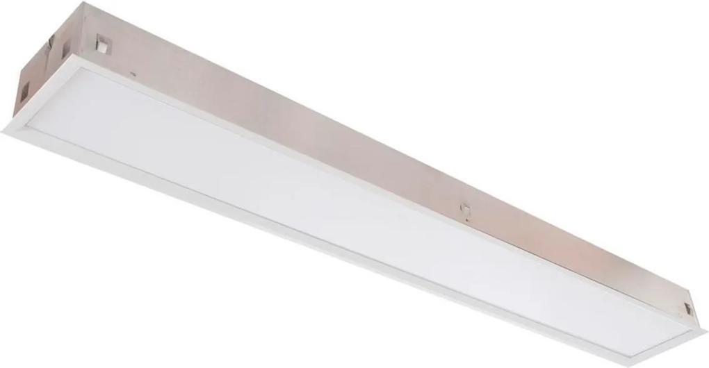 Plafon Led Embutir Retangular 32w Branco Luz Neutra