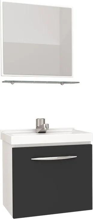 Conjunto Para Banheiro Aço Pitanga 40 Cozimax Branco/preto