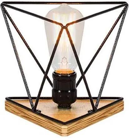 Luminaria Genius Estrutura de Ferro Redonda cor Preto 16cm (LARG) - 54092 Sun House
