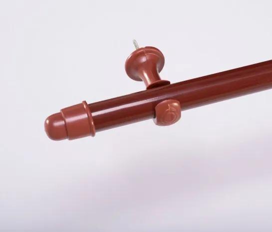 Varão Simples para Cortina de 3 Metros 28mm - Diversas Cores Mogno