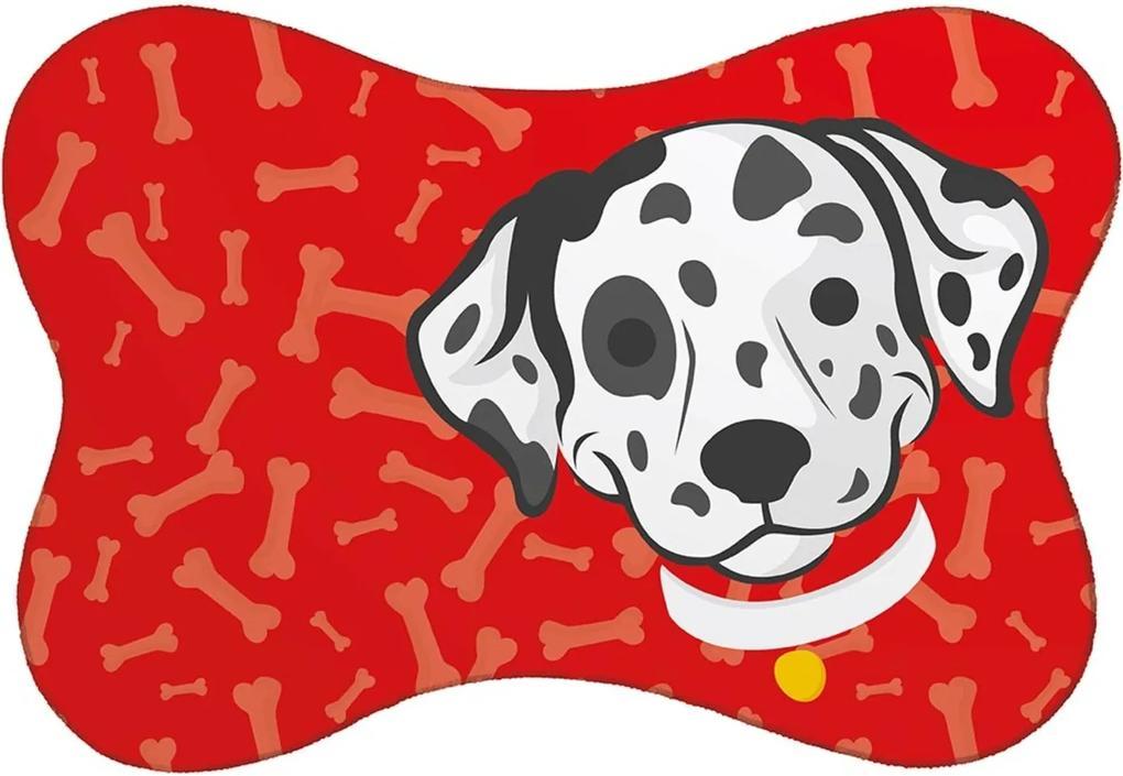 Tapete PET Mdecore Dalmata Vermelho 46x33cm
