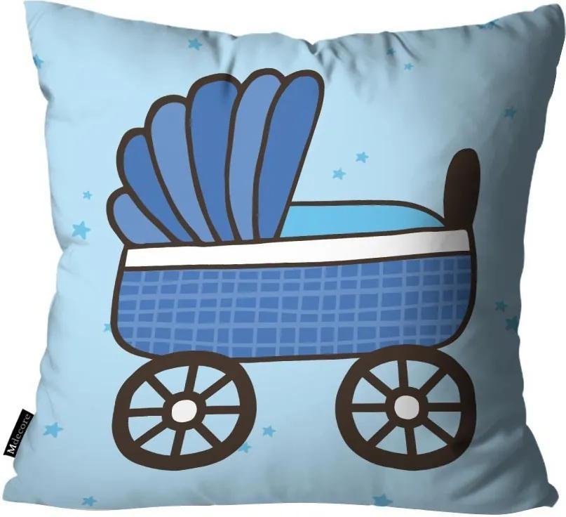 Capa para Almofada Infantil Carrinho Azul45x45cm