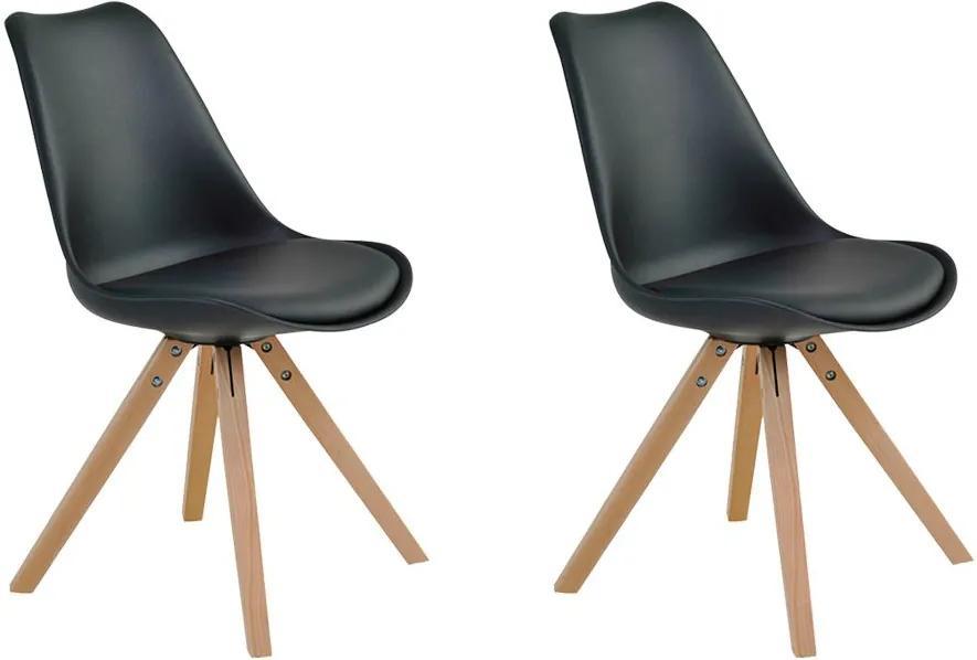 Kit 2 Cadeiras Decorativas Sala e Escritório Neo (PP) Preta- Gran Belo