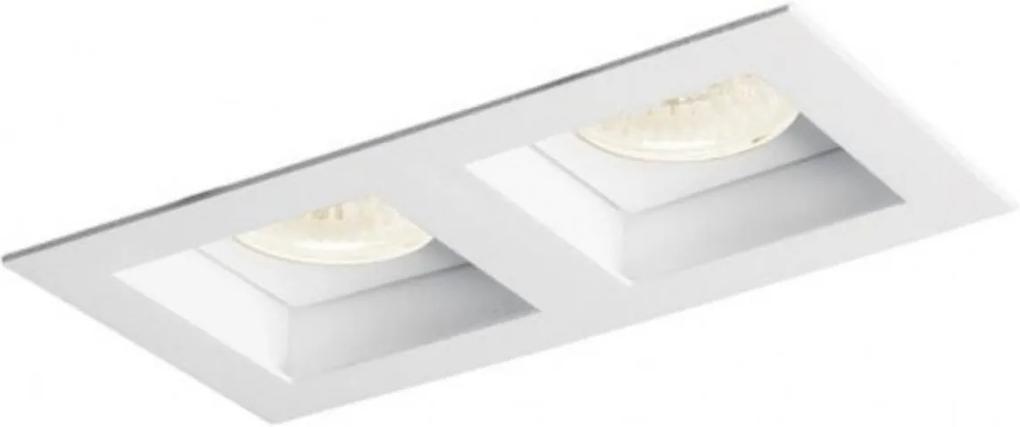 Plafon Embutir Aluminio Branco 17cm Flat 2