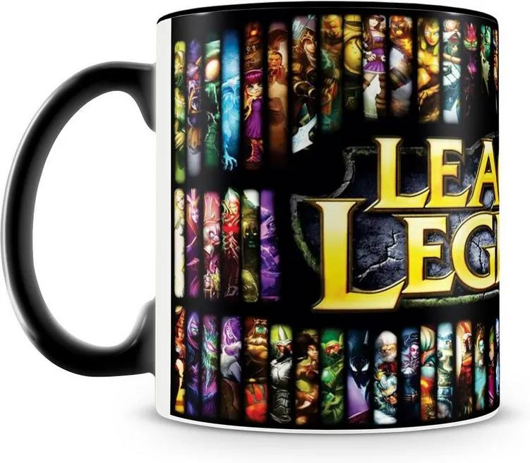 Caneca Personalizada League of Legends (Preta)