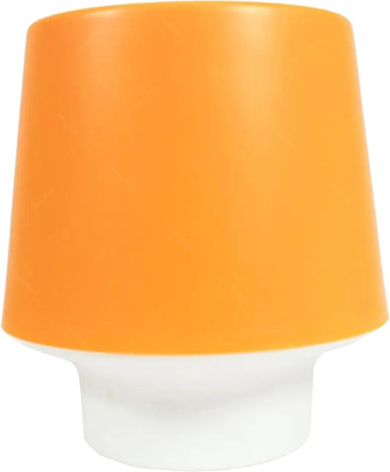 Luminária Candy Laranja Pequena de Mesa - 16x15 cm