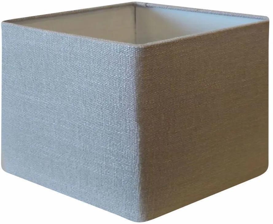 Cúpula em Tecido Quadrada Abajur Luminária Cp-4077 30/50x50cm Rustico Cinza