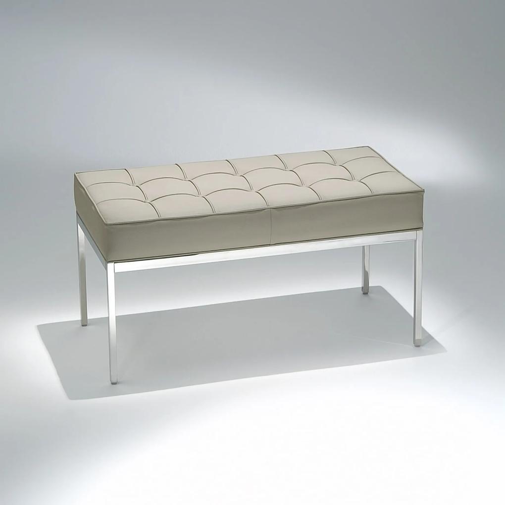 Banco FK1 Estofado Estrutura Aço Inox Studio Mais Design by Florence Knoll