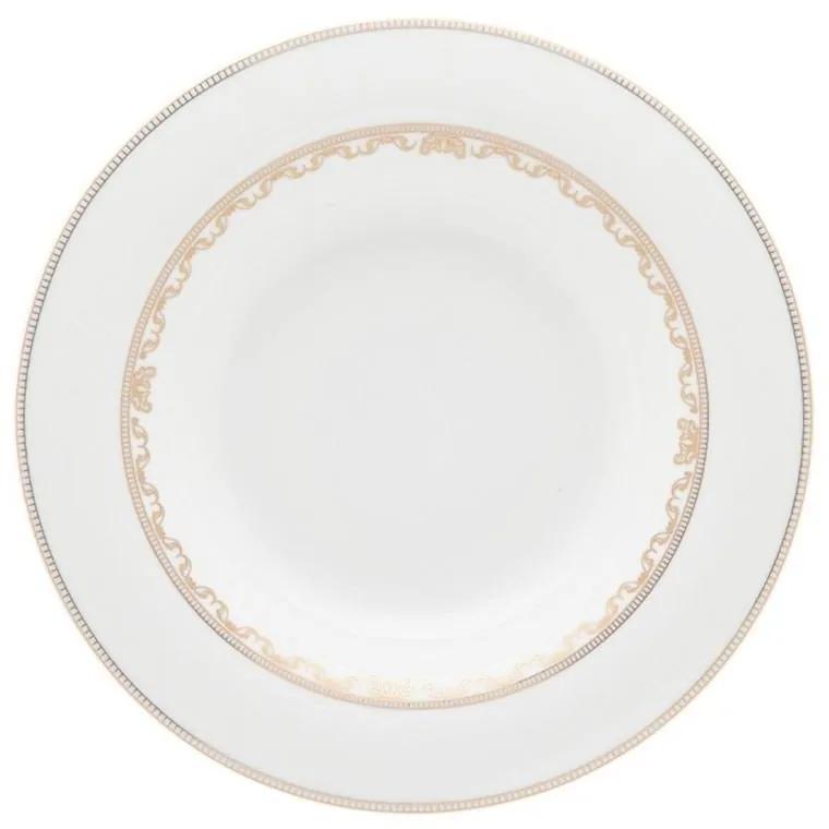 Jogo C/ 6 Pratos Fundos 24,5cm - Porcelana  Porcelana