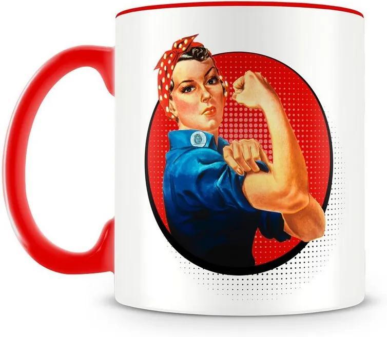 Caneca Personalizada We Can Do It (Vermelha)
