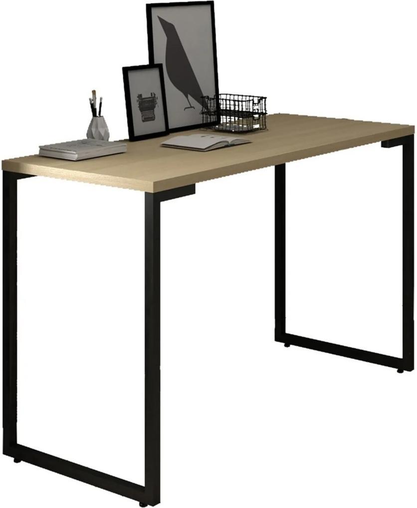 Mesa Para Computador Escrivaninha 120cm Estilo Industrial New Port F02 Nature - Mpozenato