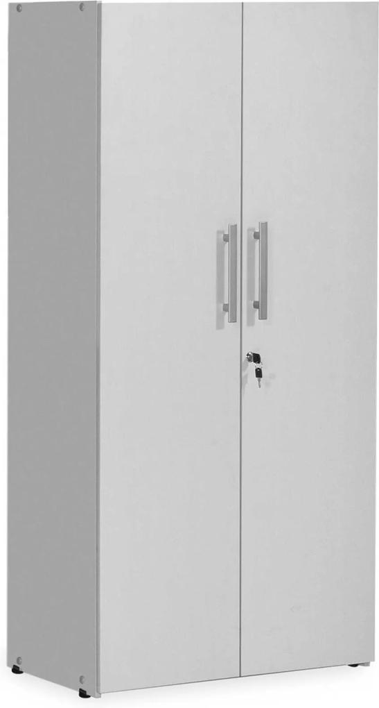 Armário Alto 2 portas fechado 1,60x0,75x0,38 Cinza Giobel
