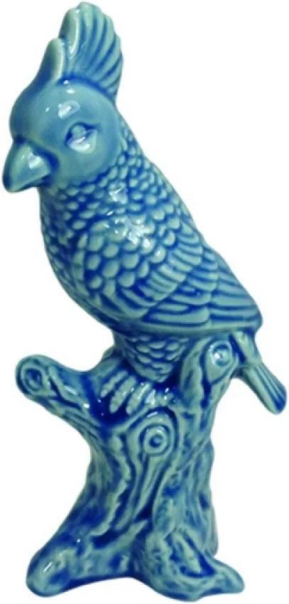 escultura pássaro JADE cerâmica azul 10cm Ilunato XD0367