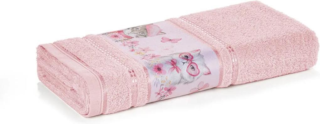 Toalha de Rosto Infantil Menina Missi Rosa Karsten 49x70cm