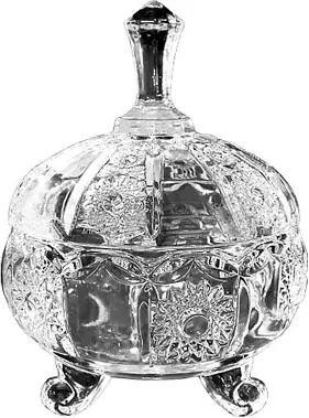 Bomboniere em Vidro Detalhes Decorativos em Relevo