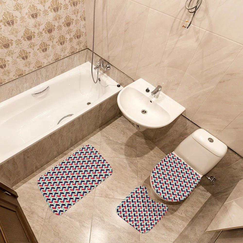 Jogo de Banheiro Geométrico ColoridoÚnico