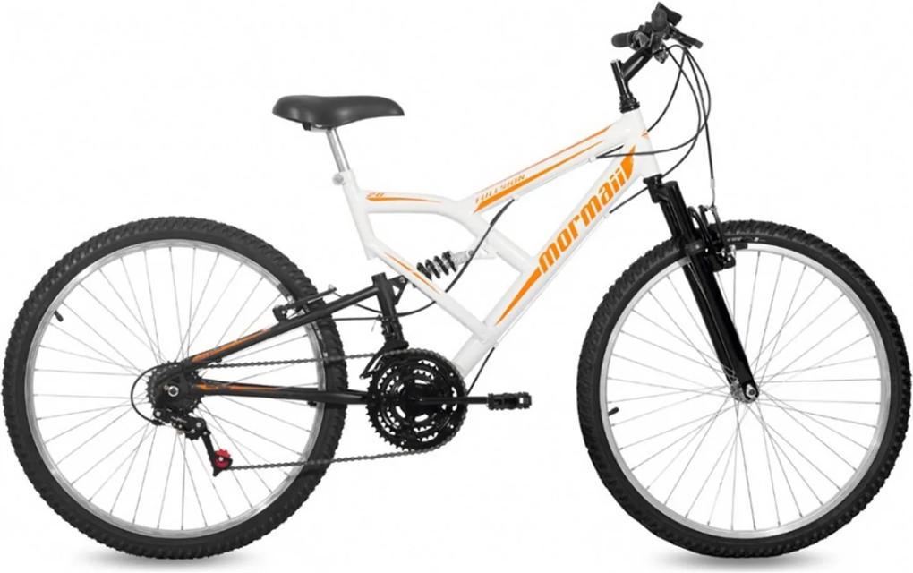 Bicicleta Mormaii Fullsion Aro 26 Branca / Preta Branco