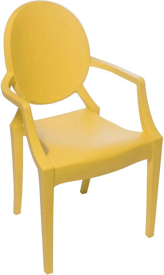 Cadeira Invisible Infantil com Braço - Amarela