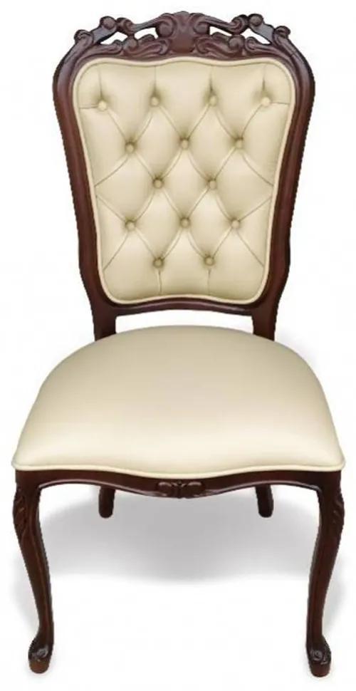 Cadeira Luís XV Capitonê Madeira Maciça Design de Luxo Peça Artesanal