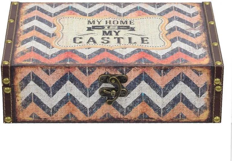 Caixa Decorativa Grande - My Home Is My Castle - Mart