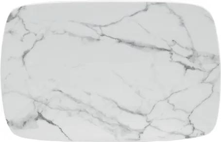 Bandeja Retangular 24 cm Porcelana Schmidt - Dec. Mármore Cinza