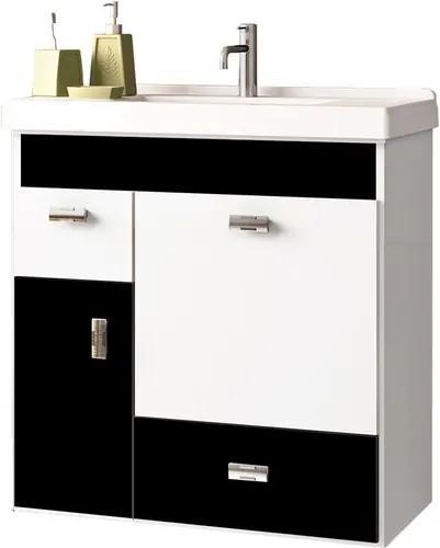 Toucador para Banheiro com Cuba 60cm Preto - Orquídea - Cozimax - Cozimax